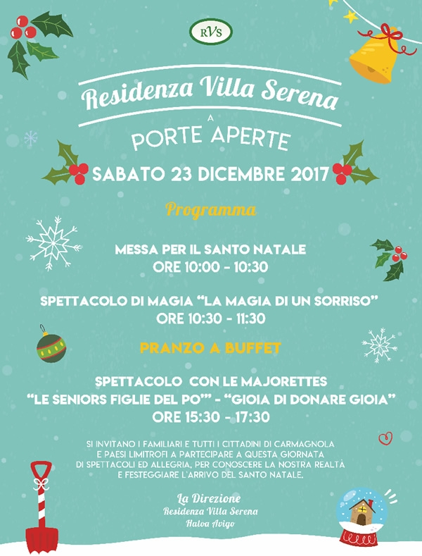 Festeggia con noi il Natale | Giornata a porte aperte  nella nostra RSA a Carmagnola